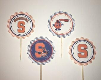 Syracuse University Orangemen / SU - 12  cupcake toppers