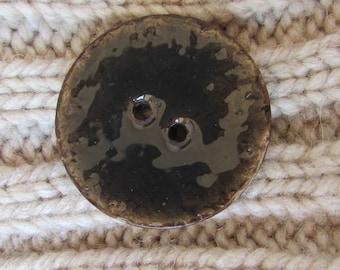 Brown Enamel Coconut Button