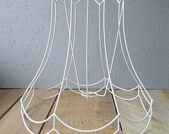 Vintage lampshade wireframe. Lamp shade. Wire frame.
