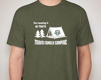 Travis Adult Campout shirt