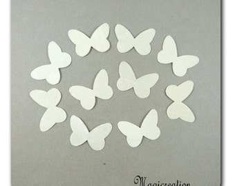 stickers Wings Butterfly silk white 3.5 cm