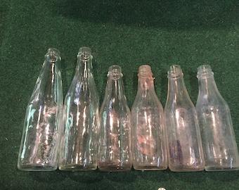 6 Old Vintage Ketchup Bottles