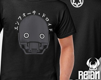 K2S0 Enforcer Droid shirt 1st Edition Star Wars Rogue One inspired Original Design Shirt stormtrooper helmet imperial k2so
