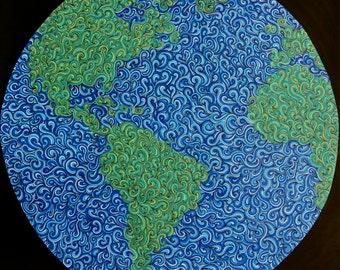 "Earth Print 12"" x 12"""