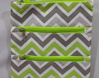 Cross Body Purse-Messenger Bag-Tote-Green-White-Grey-Purse-Luggage-Travel