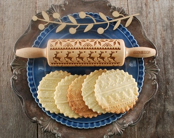 NORWEGIAN SWEATER - MINI embossed, engraved rolling pin for cookies - perfect Mother's Day idea - gift