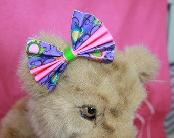 Medium Duck Tape Bow *Colorful Owls*