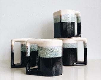 Vintage Padilla Stoneware Mugs // Set of Four