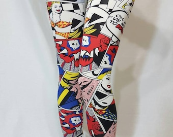 MEDIUM - Wonder Woman Comic Legging