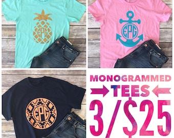 SPRING SALE 3 Monogramed Shirts