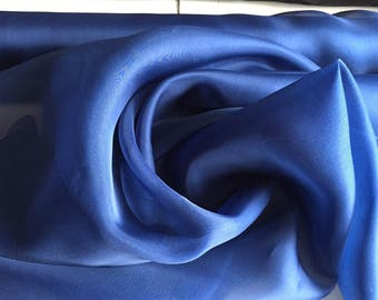 100% Silk Organza, Navy Blue, an amazing quality, 50 inches wide, 2 yard piece