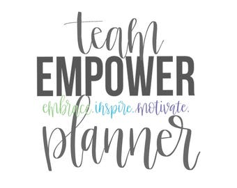 TEAM EMPOWER Rodan and Fields Distributor Planner - One Year Fill in Calendar Notebook  - Monthly Weekly Team Gift