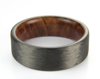 Carbon Fiber ring with Redwood Burl liner