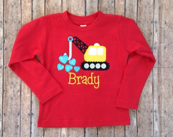 Heart Crane Applique Shirt