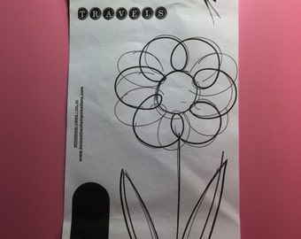 Whimsical Daisy Rubber Stamps