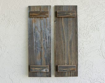 Rustic Door Shutters. Medium. Set of 2. Wooden Shutters. Barn Doors. Rustic Wooden Decor. Reclaimed Wood Decor. Rustic Barn Doors.