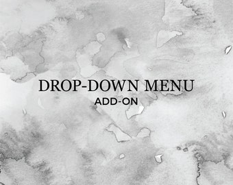 Drop-Down Menu Bar Navigation | Add On | Graphic & Web Design