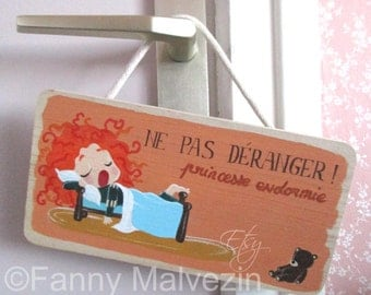"Merida (Brave) door panel ""Do not disturb"""