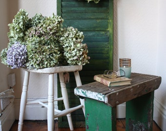 Lovely Old White Painted Stool