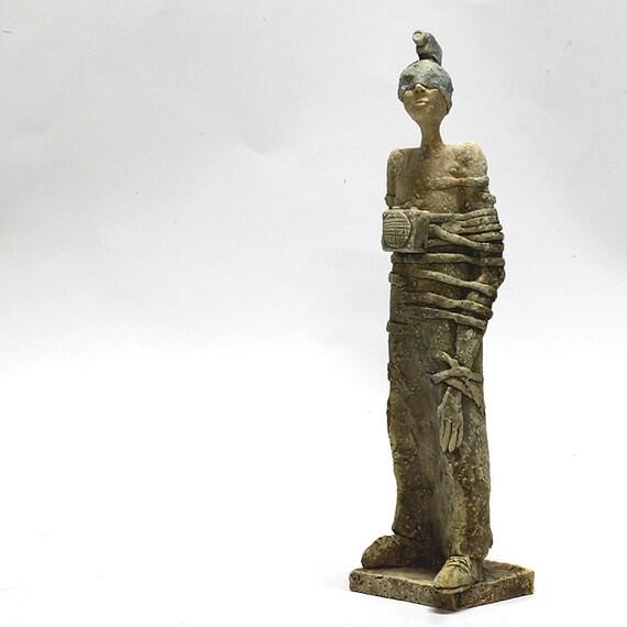 Media T Ceramic Sculpture Unique Ceramic Figurine
