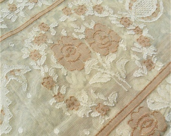"""Made in Scotland, Antique Design Ivory/Cream Madras Scottish Lace Tablecloth 100% Cotton 125x125cm 48""""x48"""" approx  Finest Quality AR9797"""