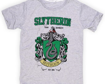 S M L XL ***  New With Tag *** Slytherin  ** Harry Potter ** Hogwarts ** Funny Shirts  ** Tshirts **  Light GRAY Tee Super Soft