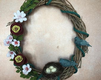 Floral Wisteria Wreath