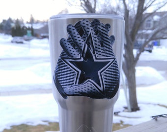 "New! Dallas Cowboys ""Glove"" 30oz Tumbler Decal Sticker FREE  Fast Shipping! Buy 2 Get 1 Free! Best Seller! Only Here!"