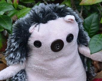 Persephone, totally huggable stuffed hedgehog toy