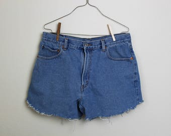 Levis Cut-Off Shorts W36 Light Blue Wash