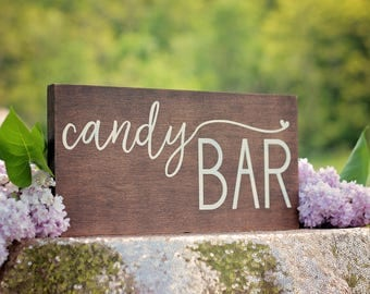 Candy Bar Sign | Wedding Signage | Wooden Dessert Sign | Wedding Candy Bar Sign | Dessert Table Signage | Wooden Wedding Signage | Rustic