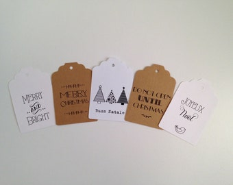 Set of 5 Christmas tag