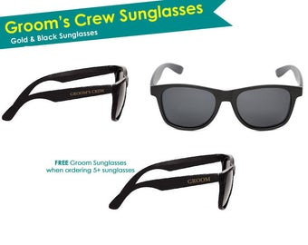 Bachelor Sunglasses- Bachelor Party Sunglasses- Groomsmen Sunglasses- Groom Sunglasses- Bachelor Party Favors Gifts-  Grooms Crew