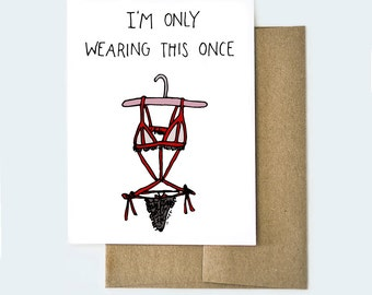Naughty Valentines Day Card, Card For Him, Funny Valentines Day Card, Funny  Love