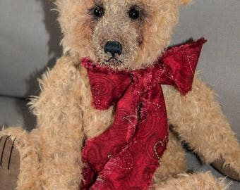 "Thomas 16"" Mohair Artist Teddy Bear by Patricia Bruce"