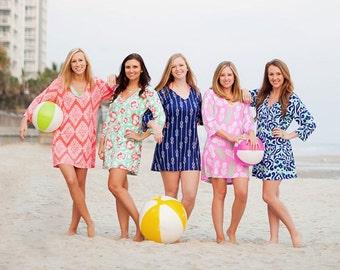 Monogrammed Beach Tunic, Monogrammed Tunic, Beach Tunic, Swimsuit Coverup, Beach Dress, Beach Cover-Up, Swim Tunic