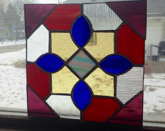 Colorful Geometric Stained Glass Home Decor/Wall Hanging/Suncatcher
