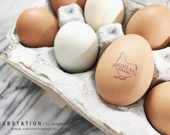 Customizable Egg Stamp - Fresh Eggs Stamp - For Eggs - Egg Stamp - Egg Carton Labels - Chicken Coop - Farm Fresh - Chicken Stamp - Egg Label