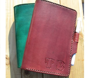 Personalized Leather Journal. Custom Handmade Diary, book Cover A6, C6.
