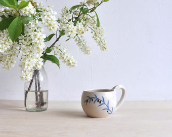 Olive branch ceramic coffee mug - Pottery cup - Hand thrown mug - Unique birthday gift - Coffee lovers gift - Peace symbol - Unique mugs