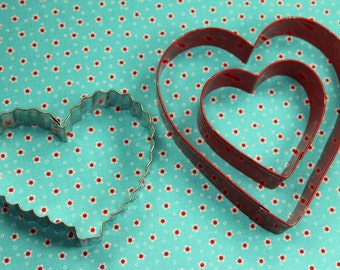 Wilton 3 Pc. Metal Heart Valentine Collectable Cookie Cutters