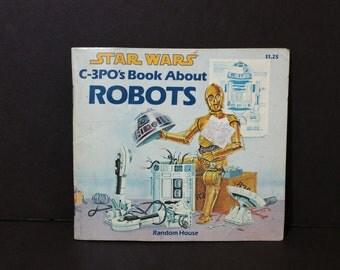 Vintage Star Wars C-3PO's Book About Robots Random House 1983