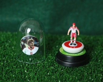 Zbigniew Boniek (Poland) - Hand-painted Subbuteo figure housed in plastic dome.