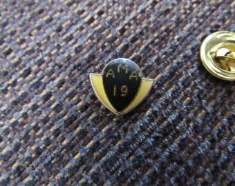 Vintage AMA 19 Lapel Pin Free Shipping