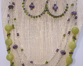 Purple and Green Triple Layer Set