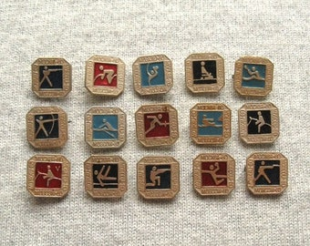 22nd Olympic Games Pins, Sports Collectible, Summer Olympic, Rare Pins, Badges for Collection
