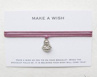 Make a wish bracelet, wish bracelet, buddha bracelet, W54