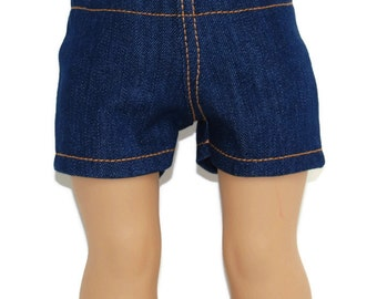 "Stretch Denim Shorts - Doll Clothes fits 18"" American Girl Dolls"