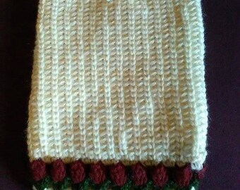 Crochet tablet Cover -white tablet cover 5,91x10.24 inches