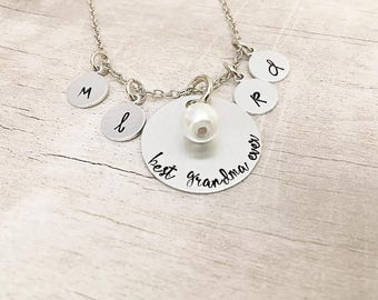 Personalized Grandma Necklace - Grandmother Gift - Grandma Necklace - New Grandma Gift